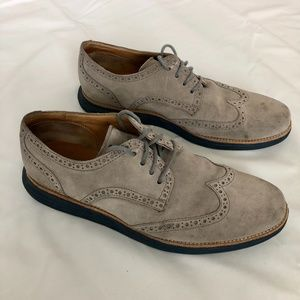 Cole Haan Lunar Grand Suede Oxford Charcoal Grey